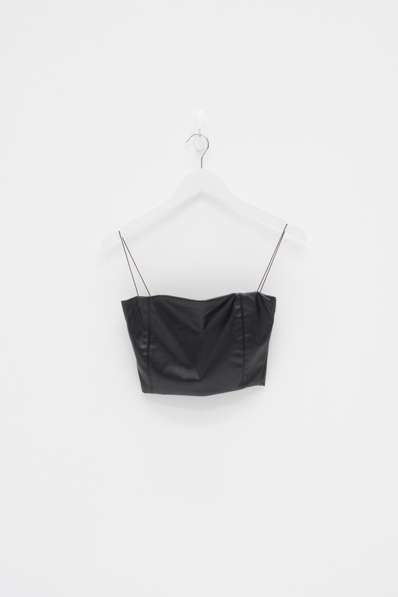FAUX LEATHER CROP / SAMPLE