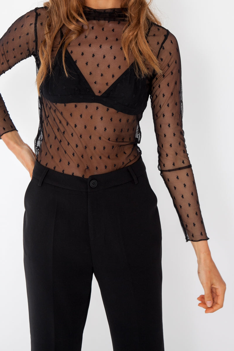 Love Heart Sheer Top