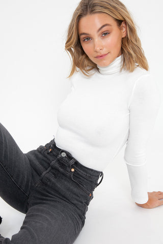 Off The Shoulder Bodysuit - White