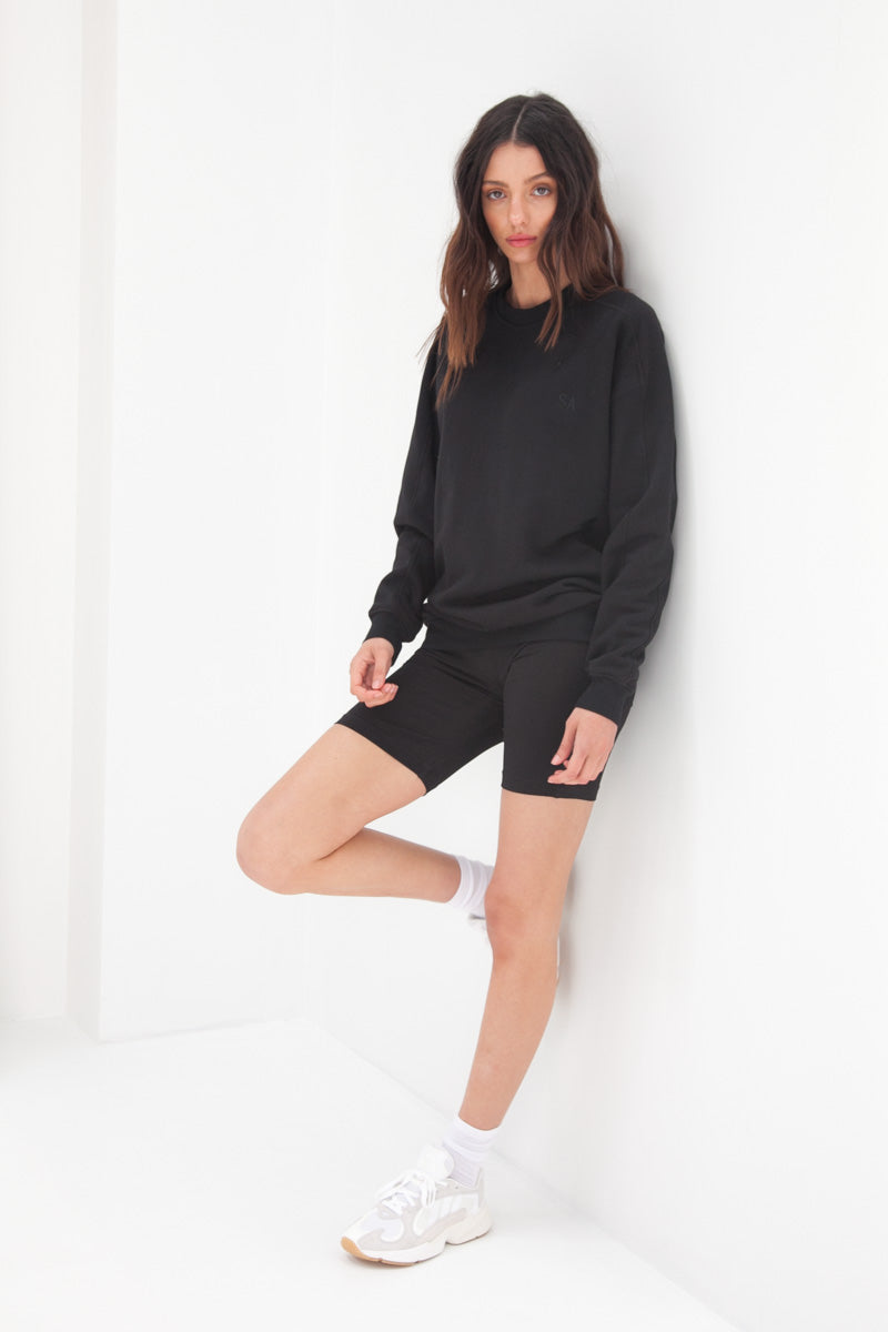Slouchy Jumper - Black