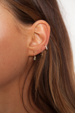Small Hoop Earrings - Gold Plated