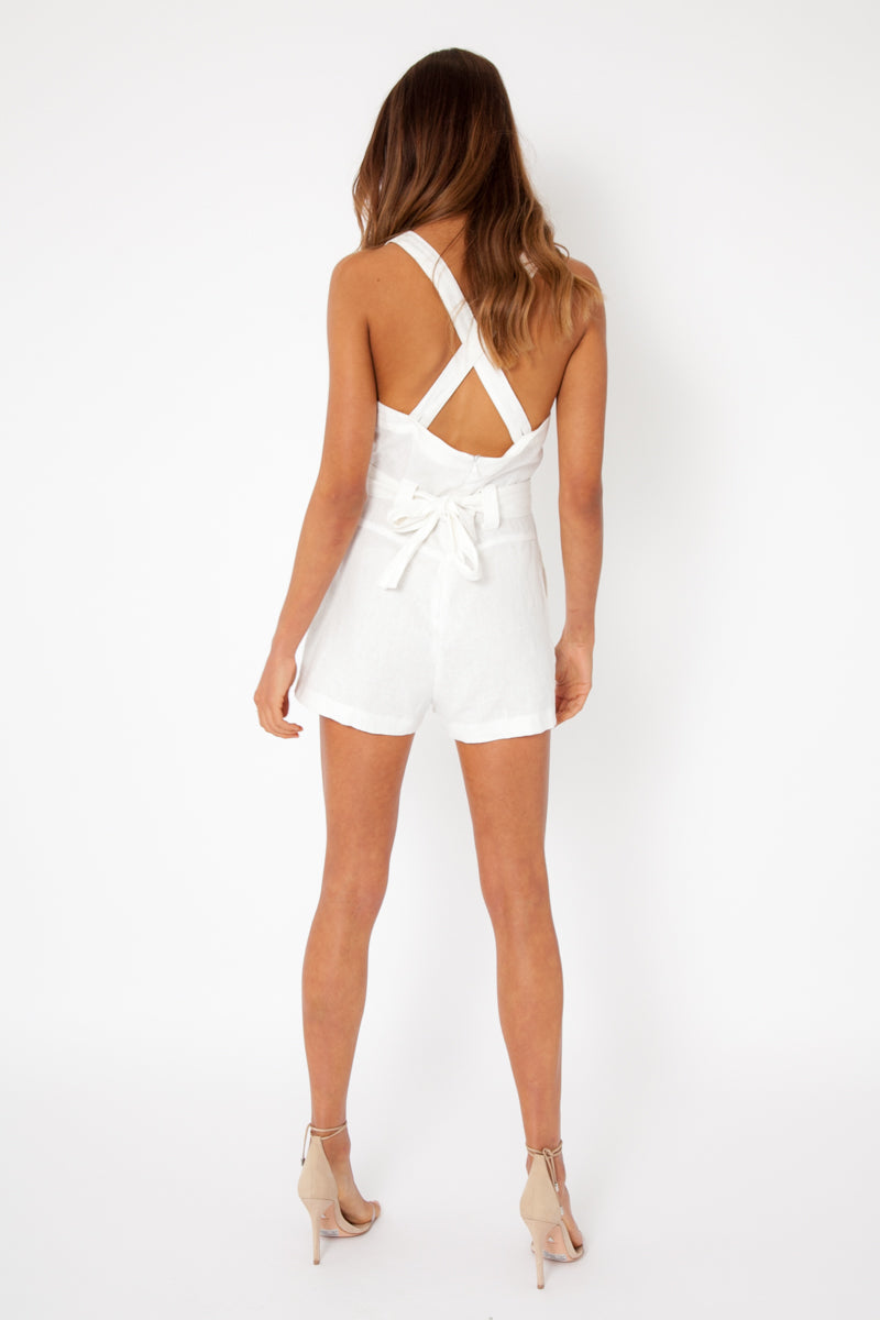 Temperley Playsuit - Linen