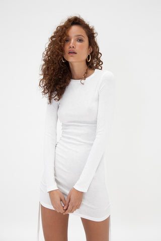 Semi Sheer Skivvy - White