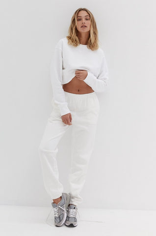 Button Crop - Baby Blue