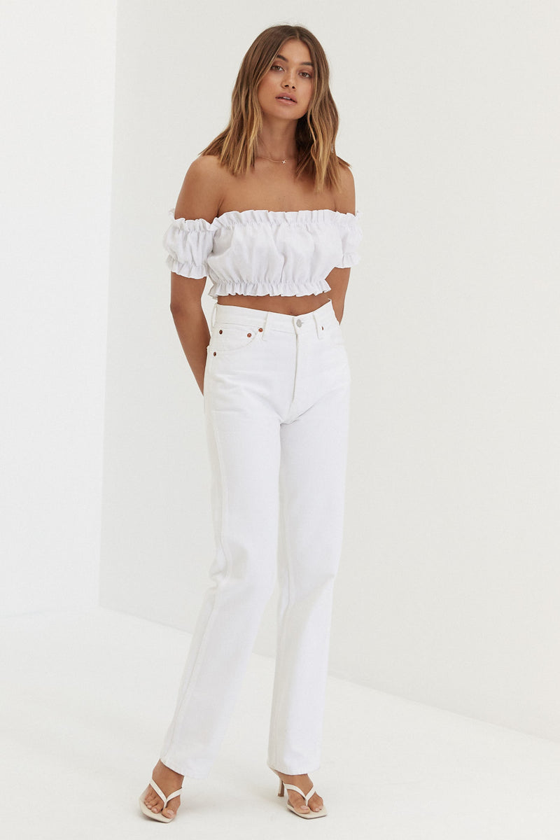 Bridgette Top - White Linen