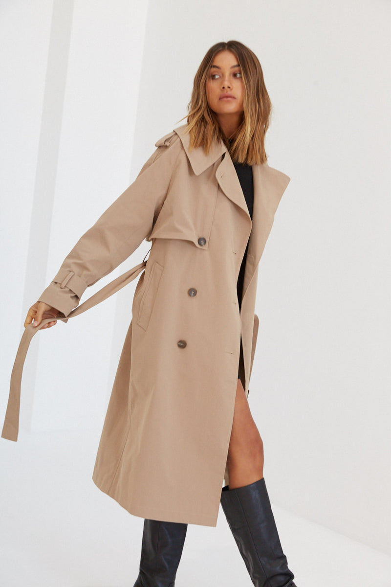 Trench Coat - Tan