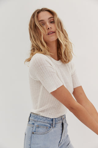 Knit Tube Top - Tan