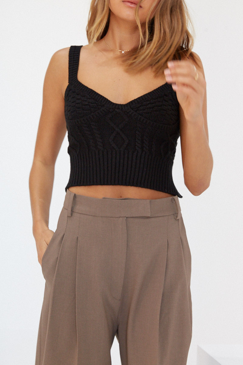 Knit Bodice - Black