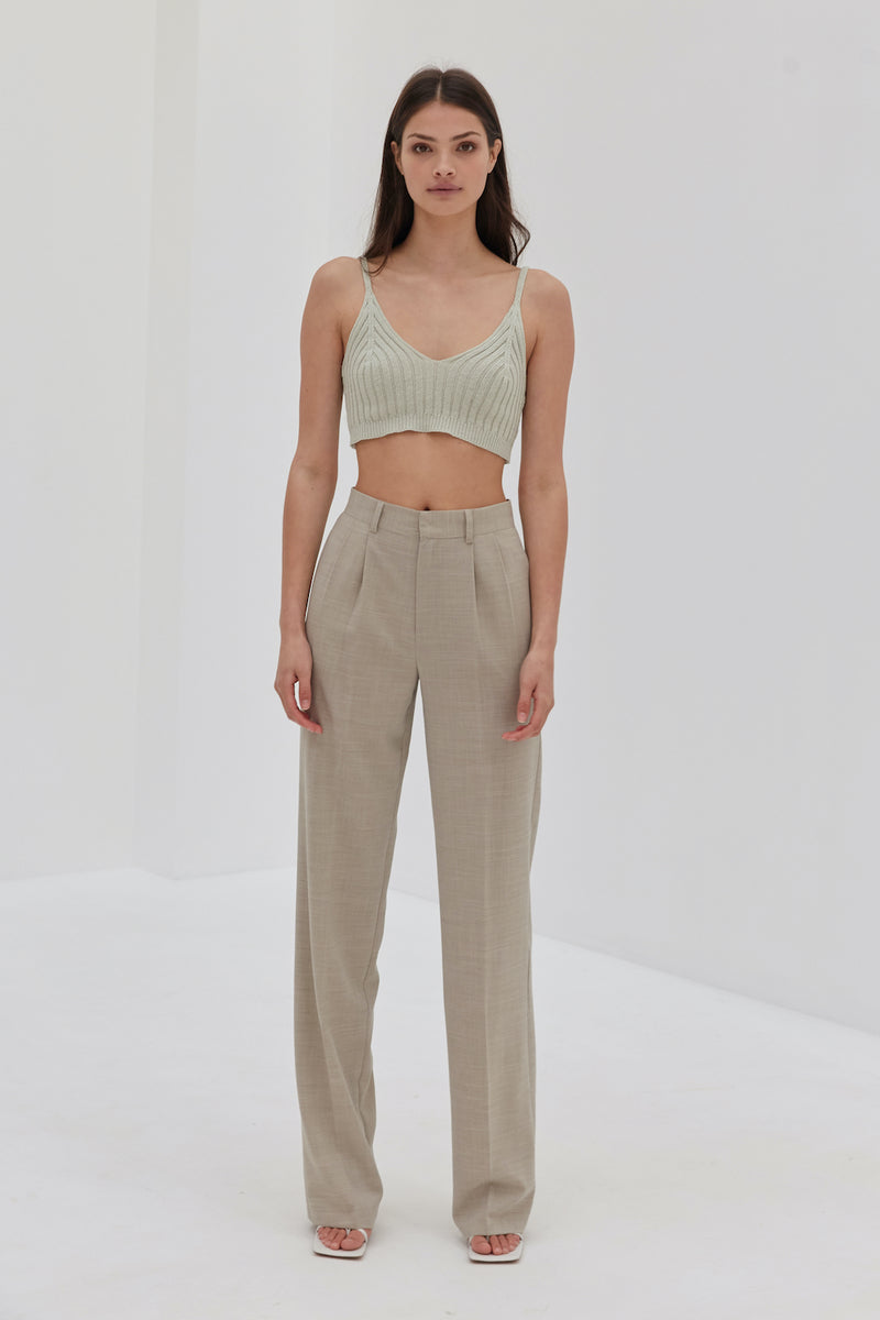 Knit Crop - Seafoam