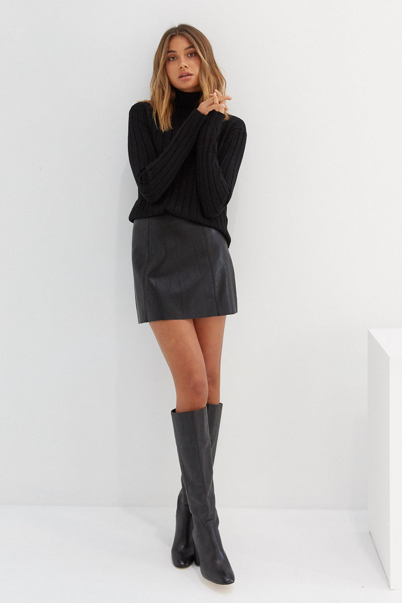 Knit Skivvy - Black