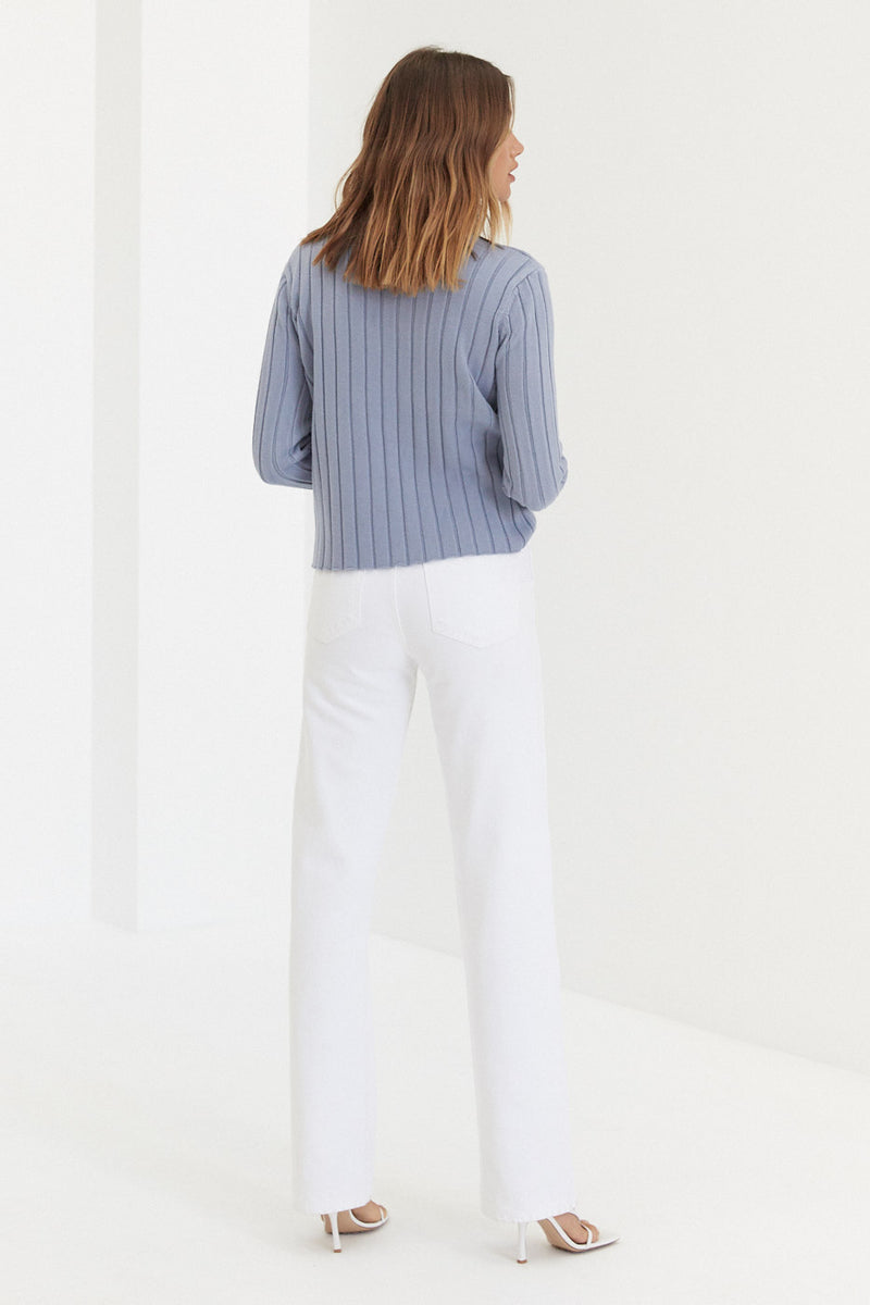Knit Skivvy - Baby Blue