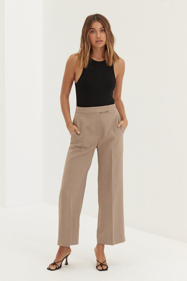Macy Trouser Pants - Tan