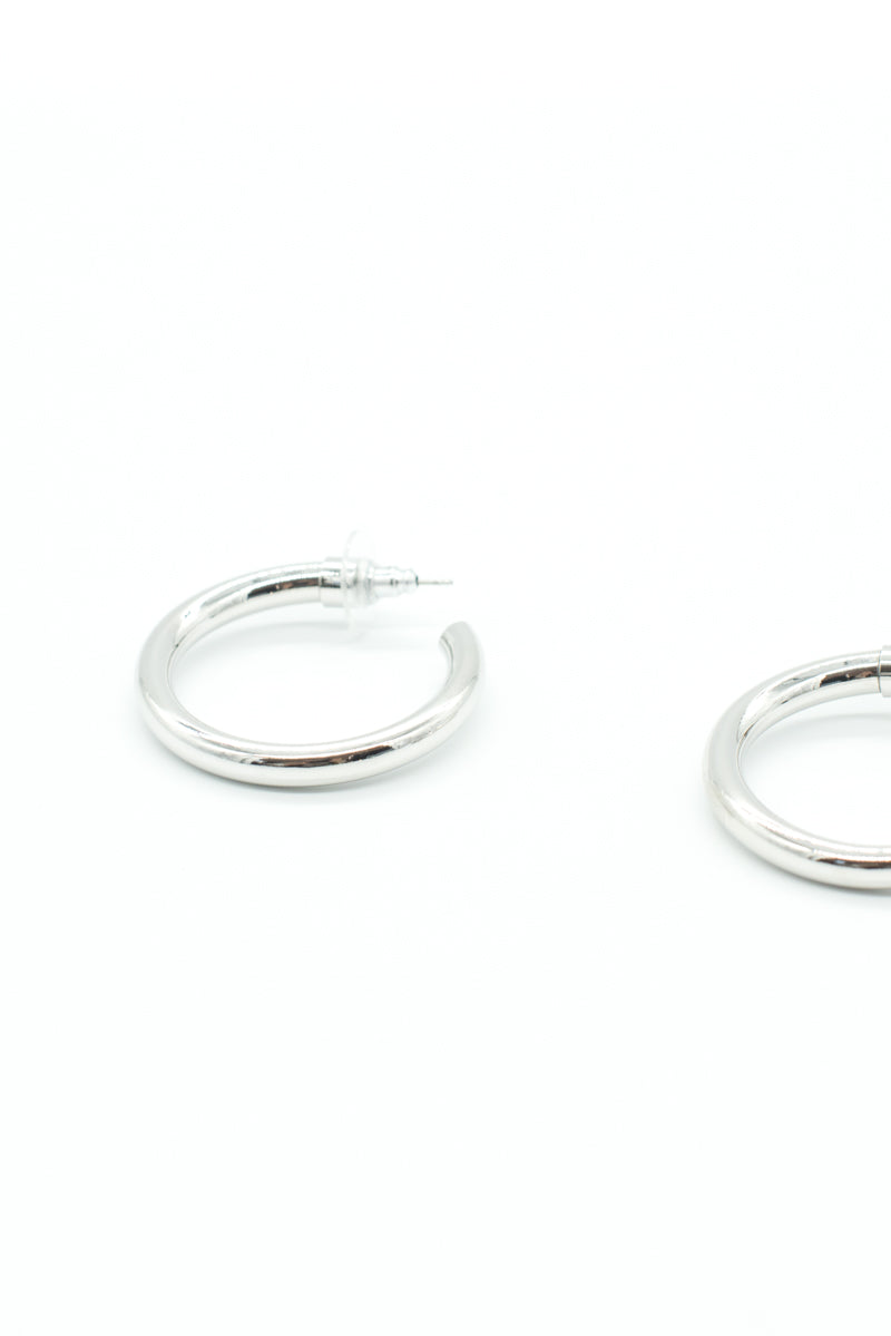 Mini Selena Hoops - Silver - Style Addict