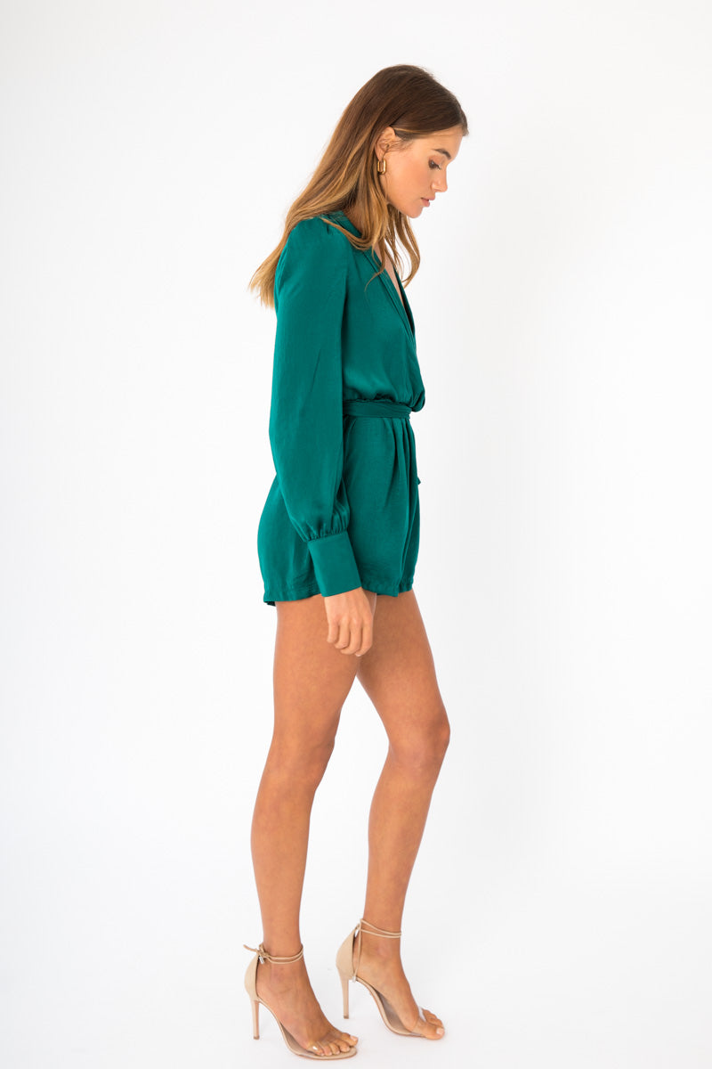 Lillie Playsuit - Emerald