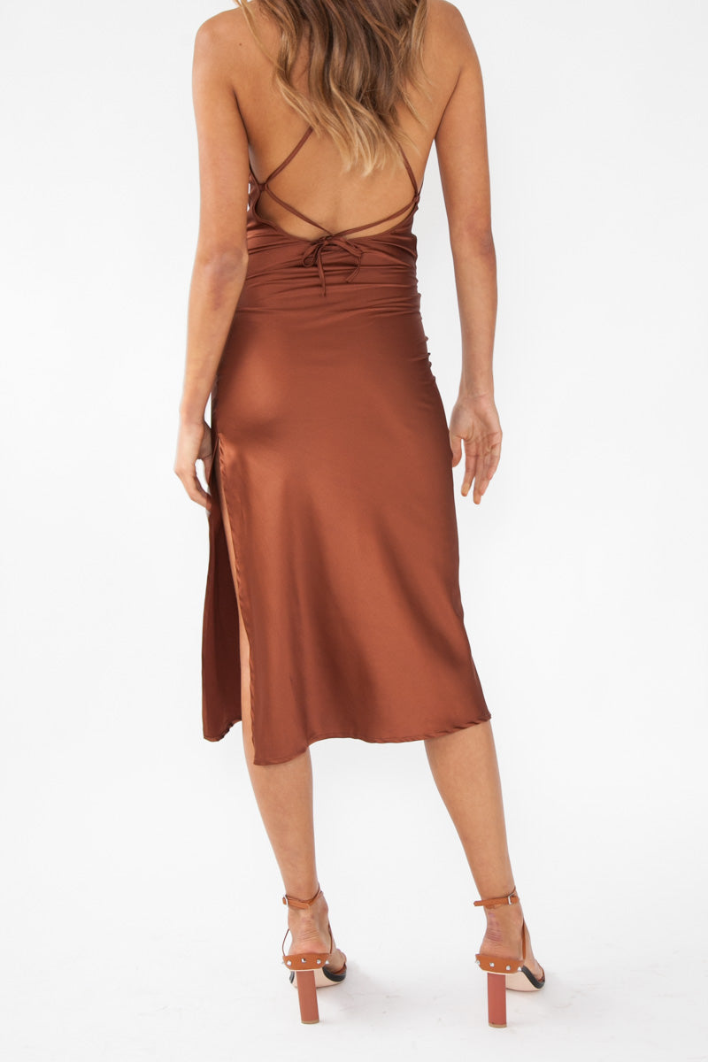 Slip Dress - Rust