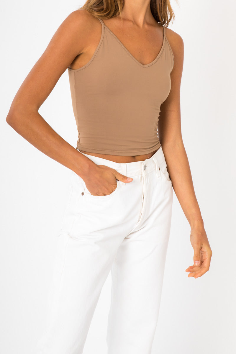 Scoop Back Tank - Nude