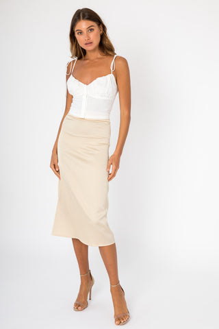Elsa Skirt - White Denim