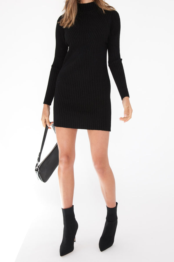 Laura Knit Dress - Black