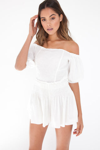 Jolie Crop - White