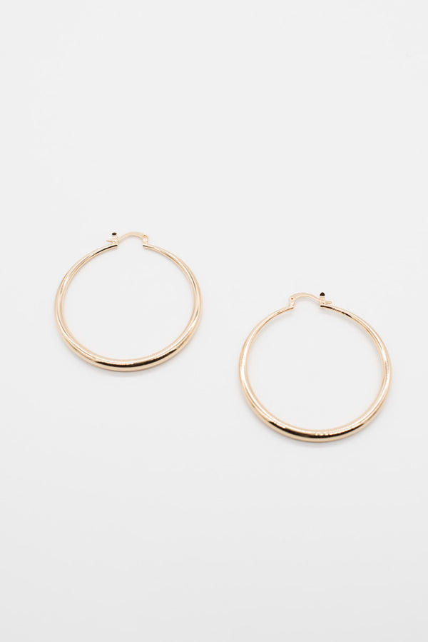Alena Hoops - 14K Gold Plated