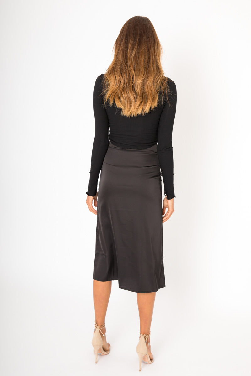 Isabel Midi Skirt - Black
