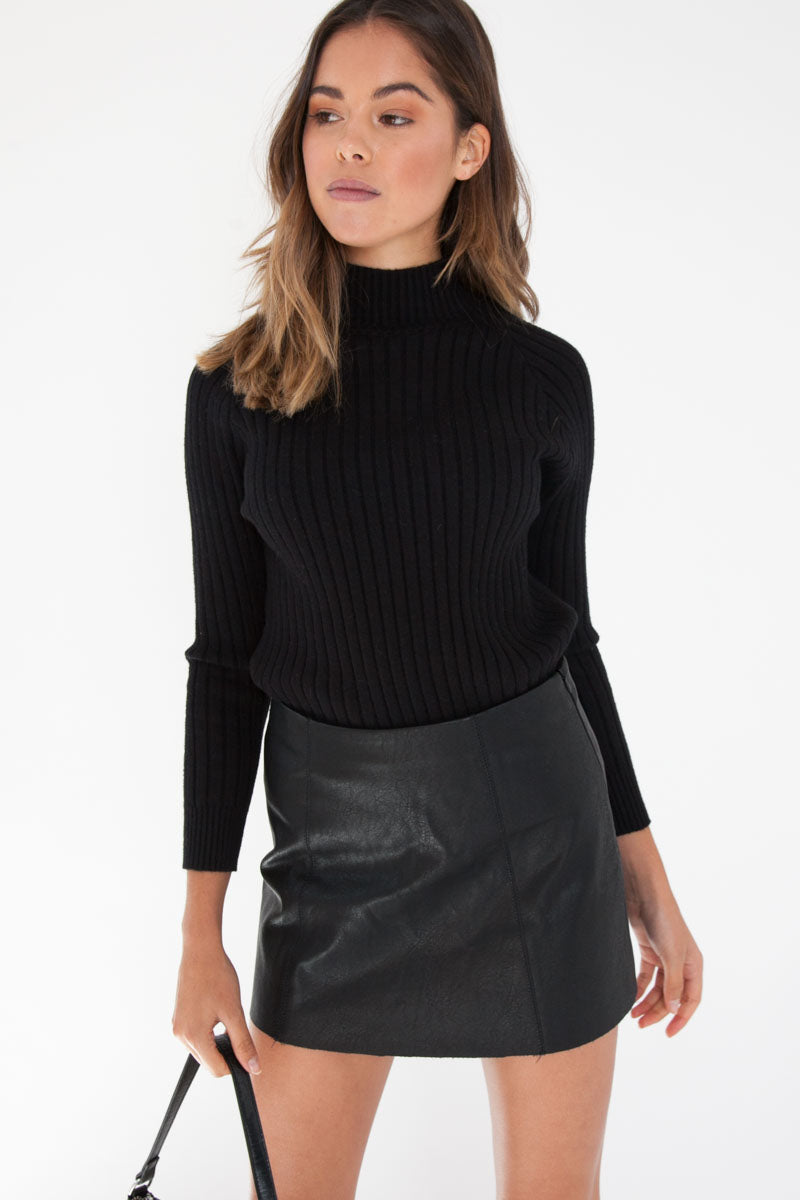 Laura Knit Jumper - Black