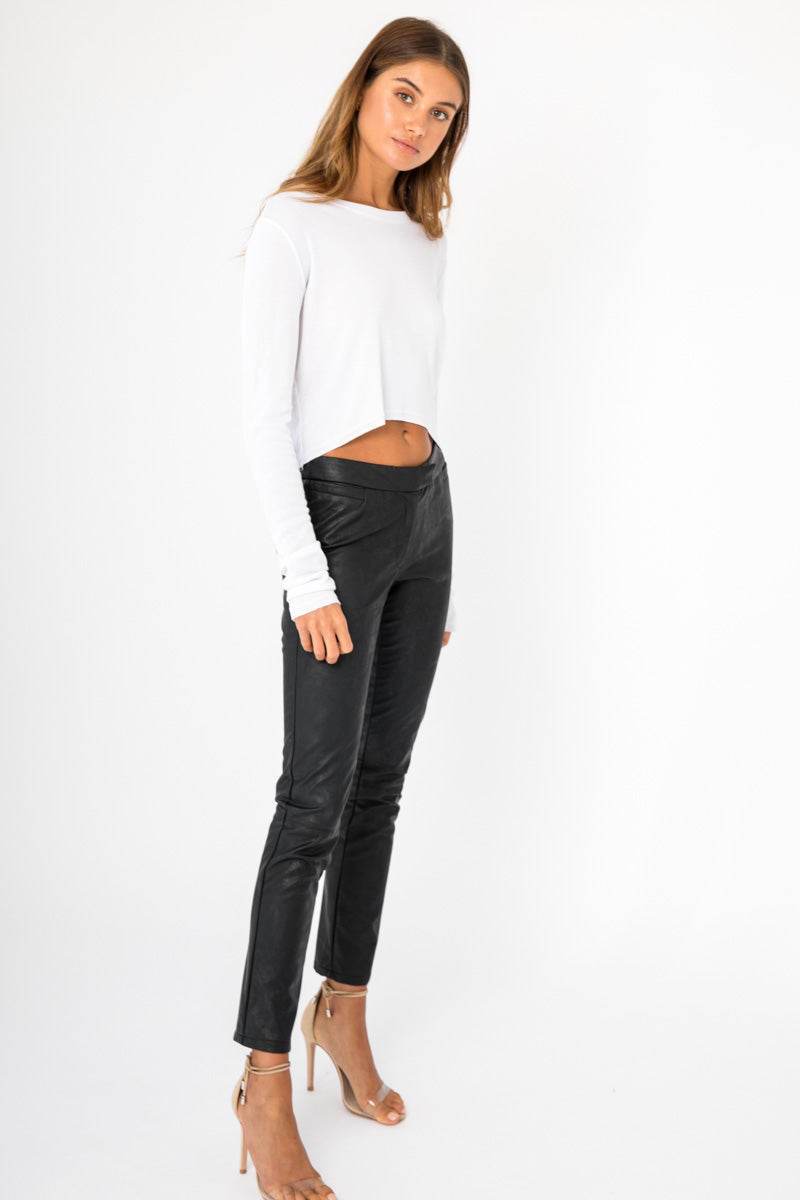 Slouchy Long Sleeve Top - White