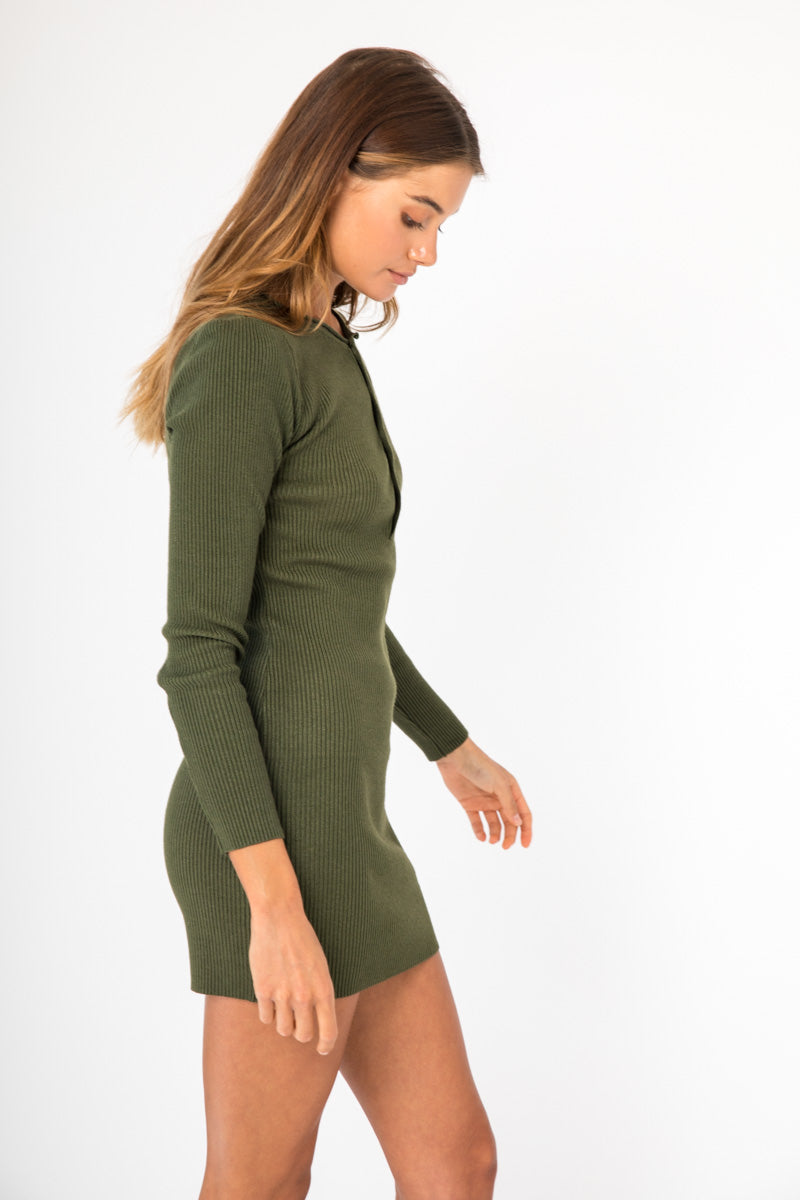 Lottie Dress - Khaki