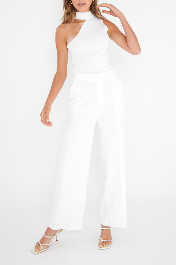Matea Sleeveless Top - White