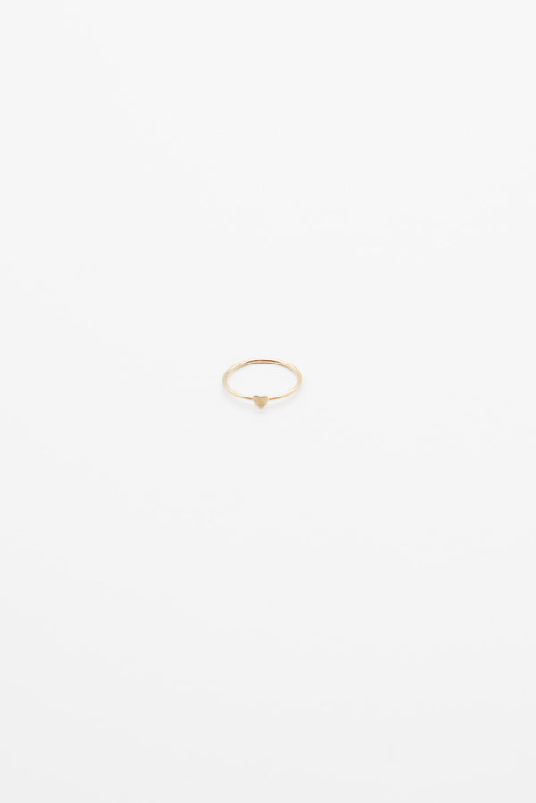 Mini Heart Ring - 14K Gold Plated
