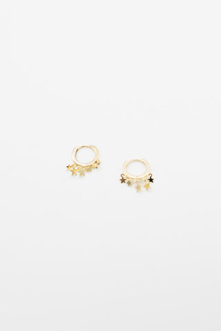 Large Alexandra Hoops - Gold