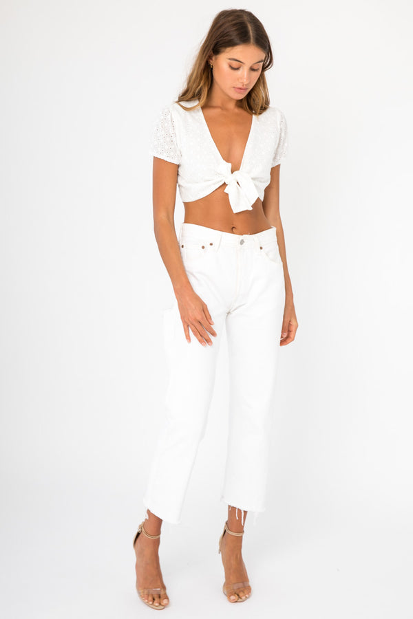 Piper Top - White / OUTLET