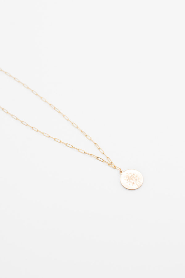 Saint Coin Necklace - 14K Gold