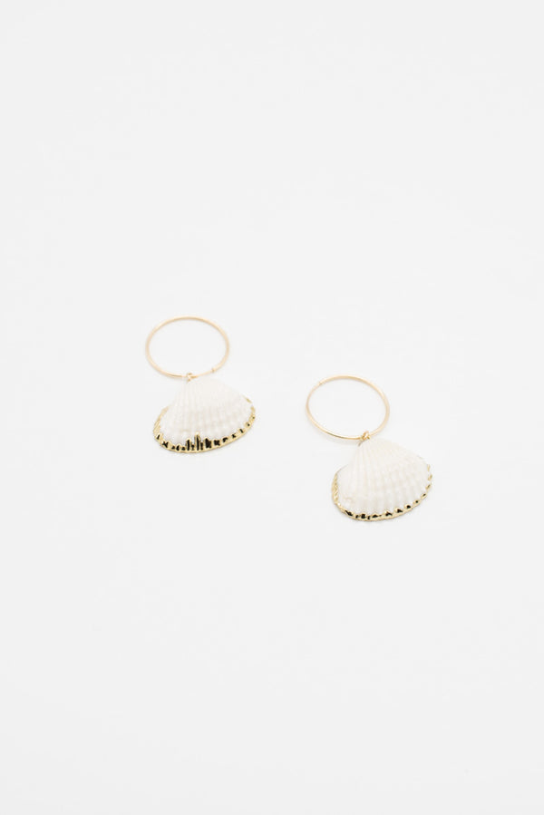 Shell Hoops - 14K Gold Plated