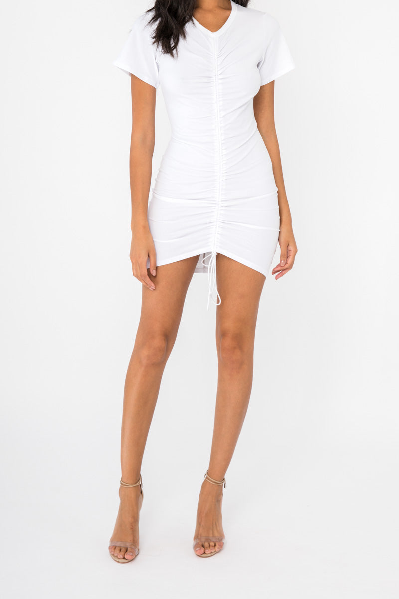 b843fb33b3f9 Tee Dress - White – Style Addict