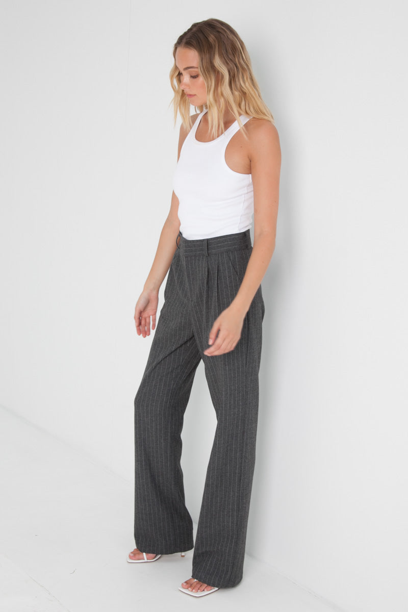 Freja Pants - Grey Stripe