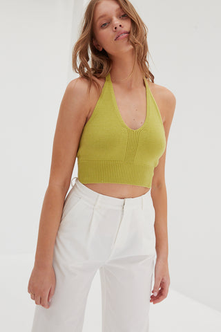 Knit Tube Top - Seafoam