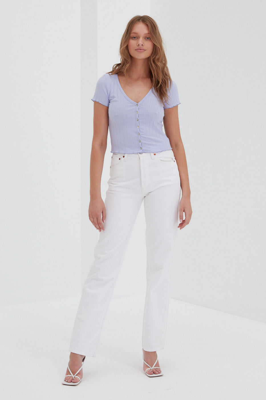Ribbed Top - Lilac