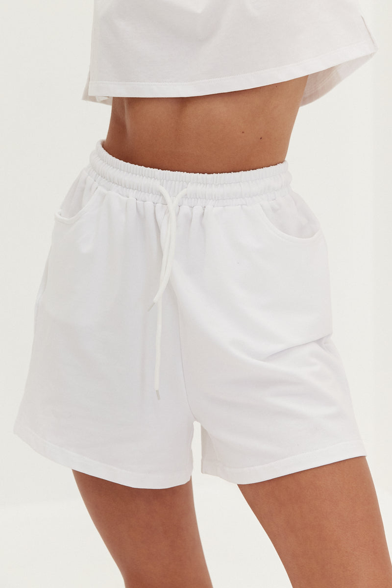 Runner Shorts - White