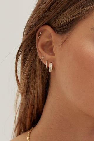 Safety Pin Earrings - Gold Plated