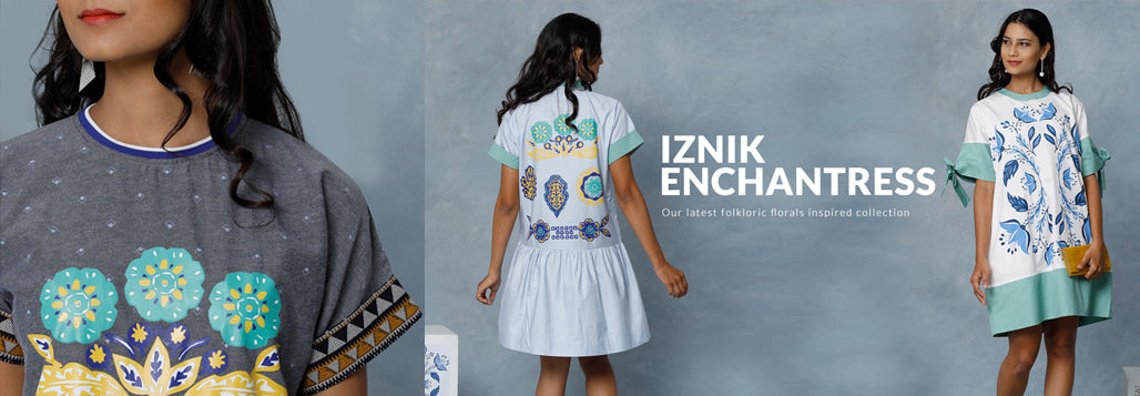 Iznik Enchantress - Our latest folkloric florals inspired collection