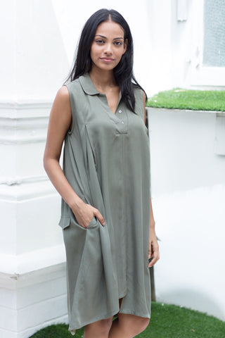 Handloom polo shirtdress