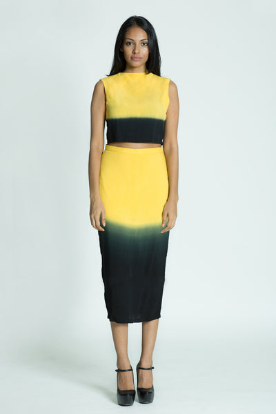 AMANDA Dip-dyed pencil skirt