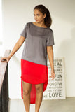 colour block tunic top