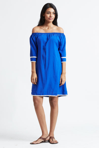 Off shoulder slouchy tunic dress