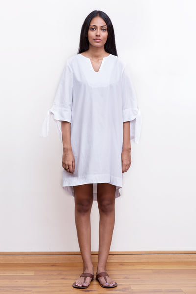 Cotton-poplin oversized shirt dress