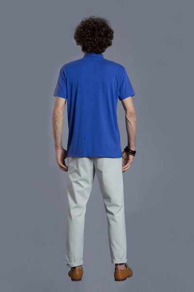 Cobalt Blue Polo T-shirt