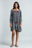 Boho Kaftan Dress-Blue