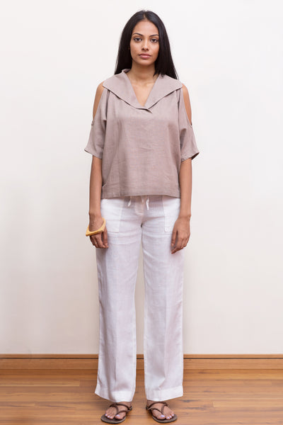 Oversized linen top - Fashion Market.LK