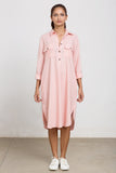 Blush pink linnen shirt tunic dress